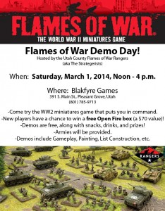 Flames of War Demo Day